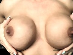 Milf round chubby nipples and lactating boobs